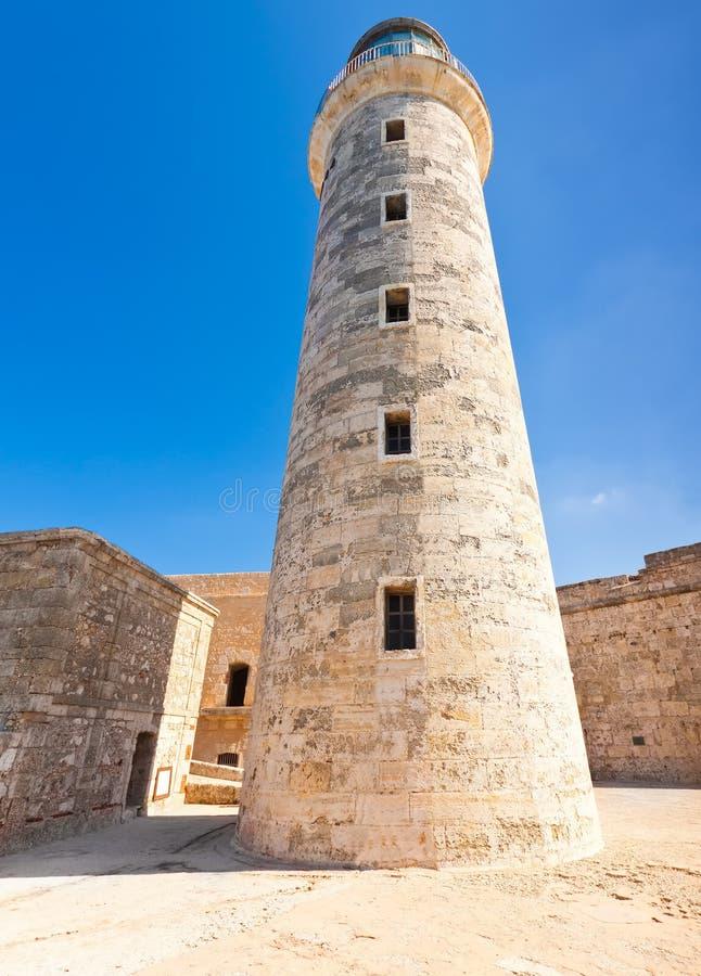 Tour du phare de l'EL Morro à La Havane image libre de droits