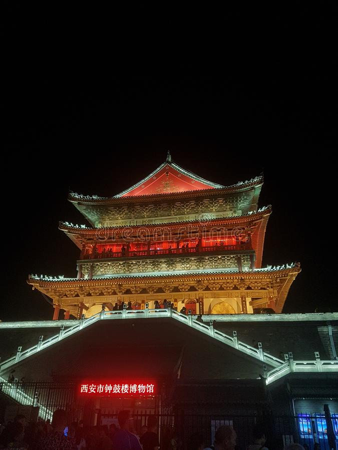Tour du tambour de Pékin image libre de droits