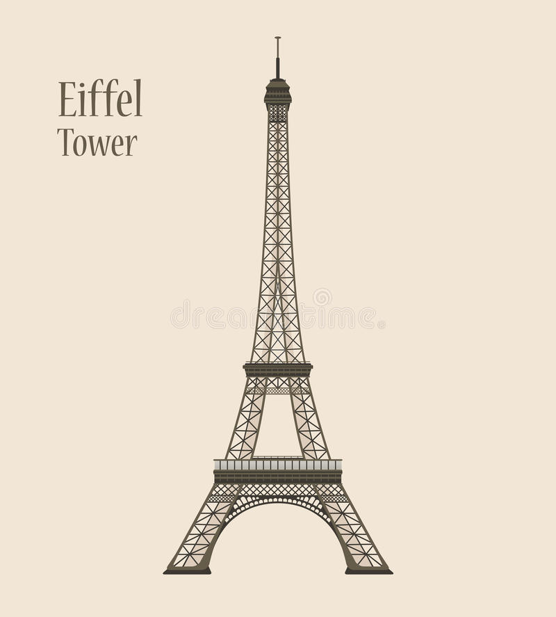 Tour Eiffel à Paris - illustration de vecteur de silhouette illustration stock
