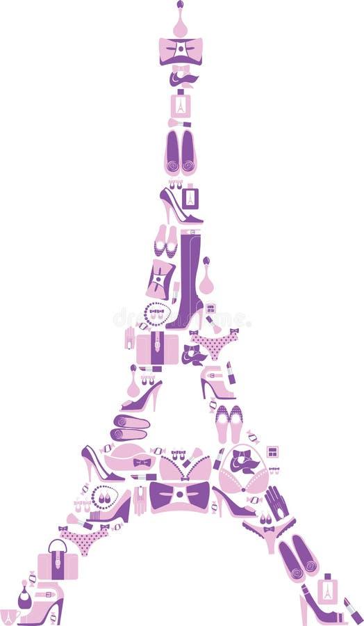 Tour Eiffel illustration libre de droits
