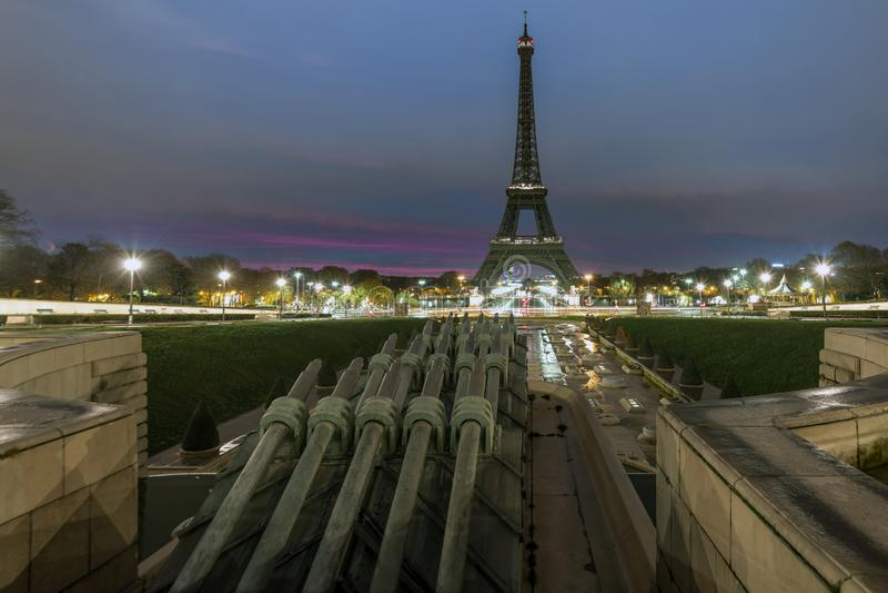 Tour Eiffel au début de la matinée photographie stock libre de droits
