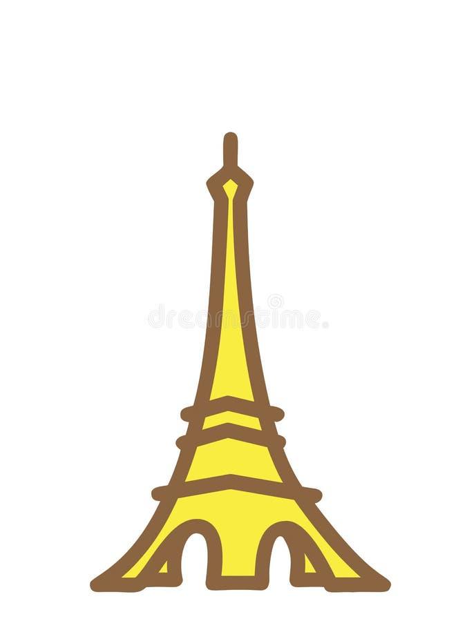 Tour Eiffel au-dessus du fond blanc illustration libre de droits