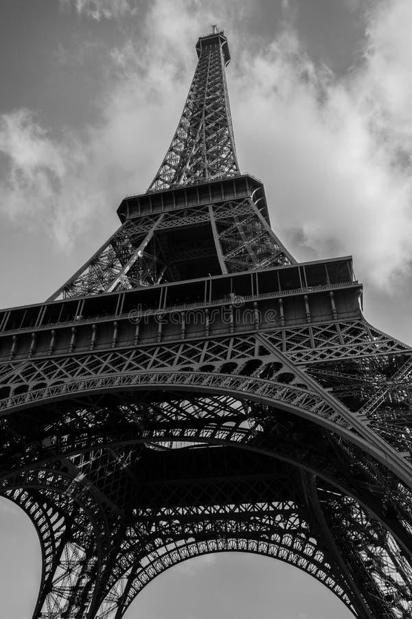 Tour eiffel black & white royalty free stock images