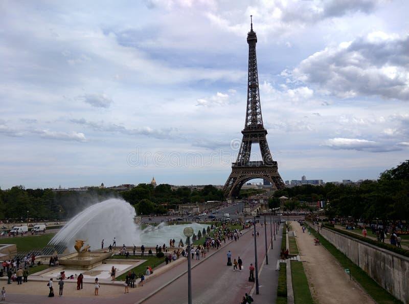 Tour Eiffel de palais de Chaillot photographie stock