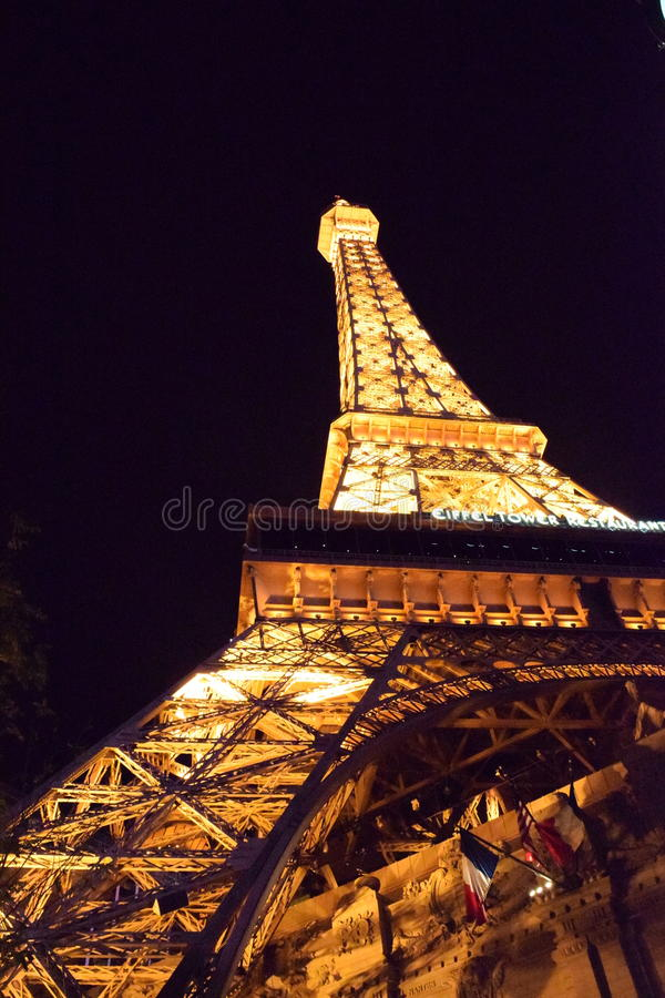 Tour Eiffel de Vegas photo stock
