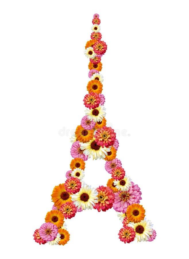 Tour Eiffel des fleurs photo libre de droits