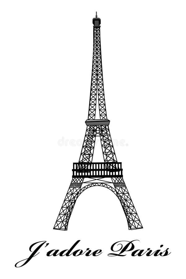 Tour Eiffel Paris illustration de vecteur