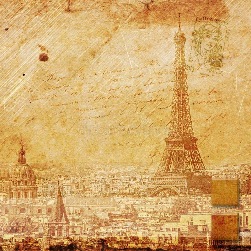 Tour Eiffel Paris, art numérique abstrait images libres de droits