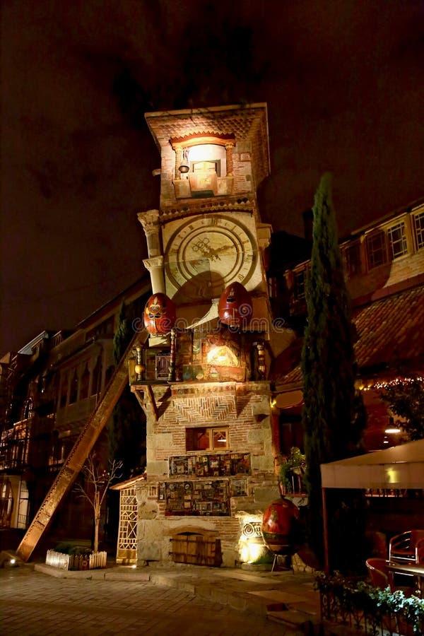 Tour en baisse de Tbilisi image stock