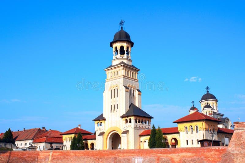 Tour et Alba Carolina Fortress orthodoxes de cathédrale de couronnement, image stock