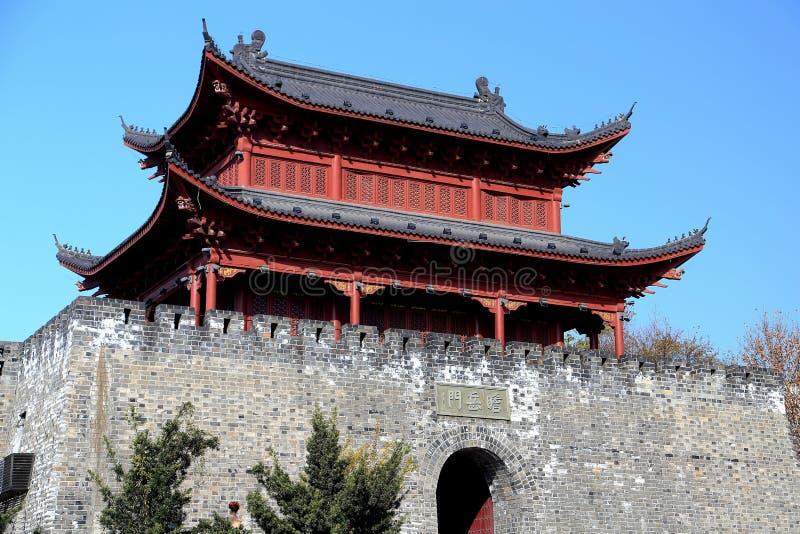 Tour et porte de Yueyang photos libres de droits