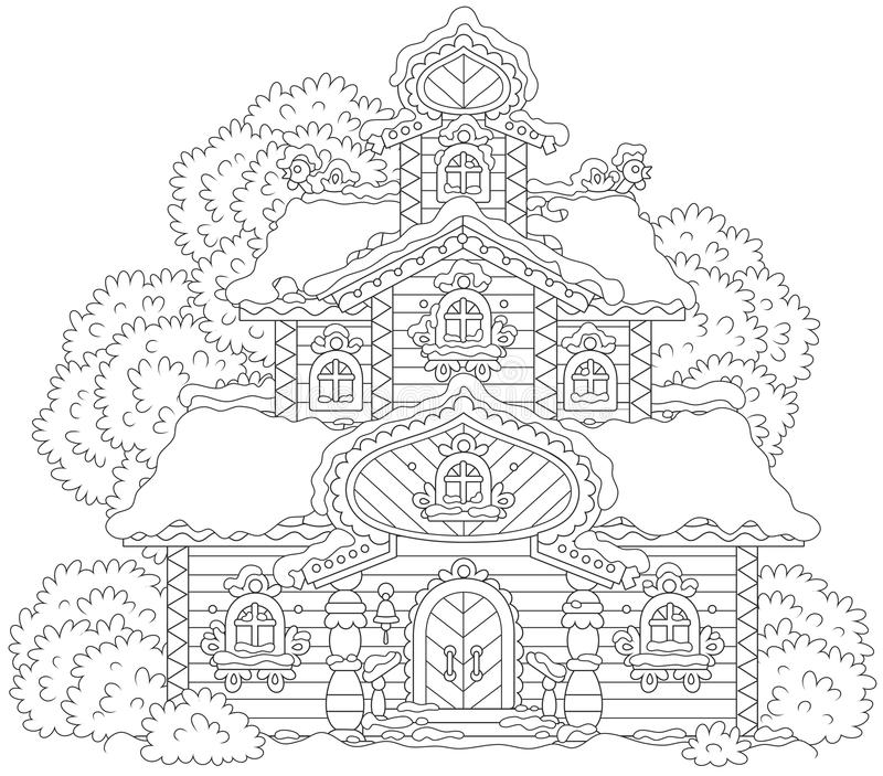 Tour fleurie sur Noël illustration stock