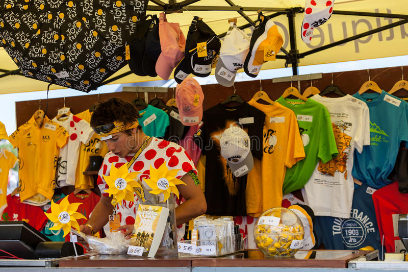Download Tour Of France Official Boutique Editorial Stock Image - Image of items, merchandise: 25881894