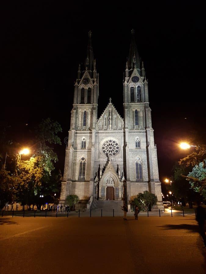 Tour gothique dans la vieille ville Prague photos libres de droits