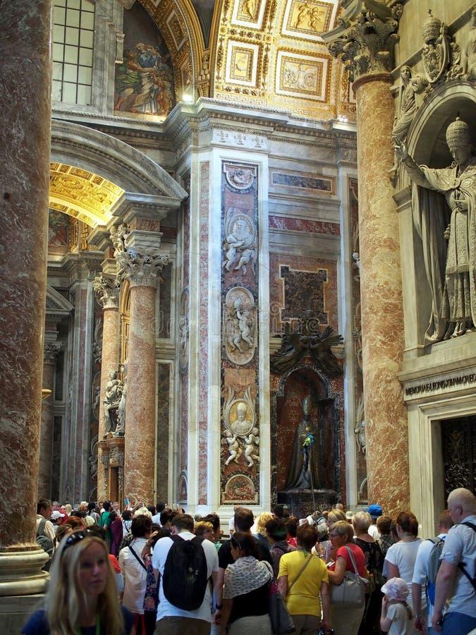 Tour Group in Saint Peter`s Basilica, Vatican, Rome royalty free stock photos
