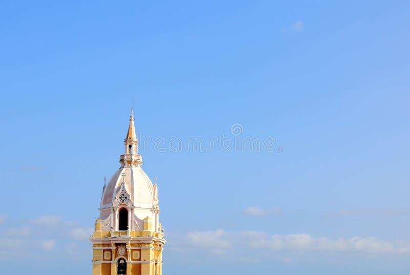 Tour la de la cathédrale à Carthagène, Colombie photographie stock libre de droits