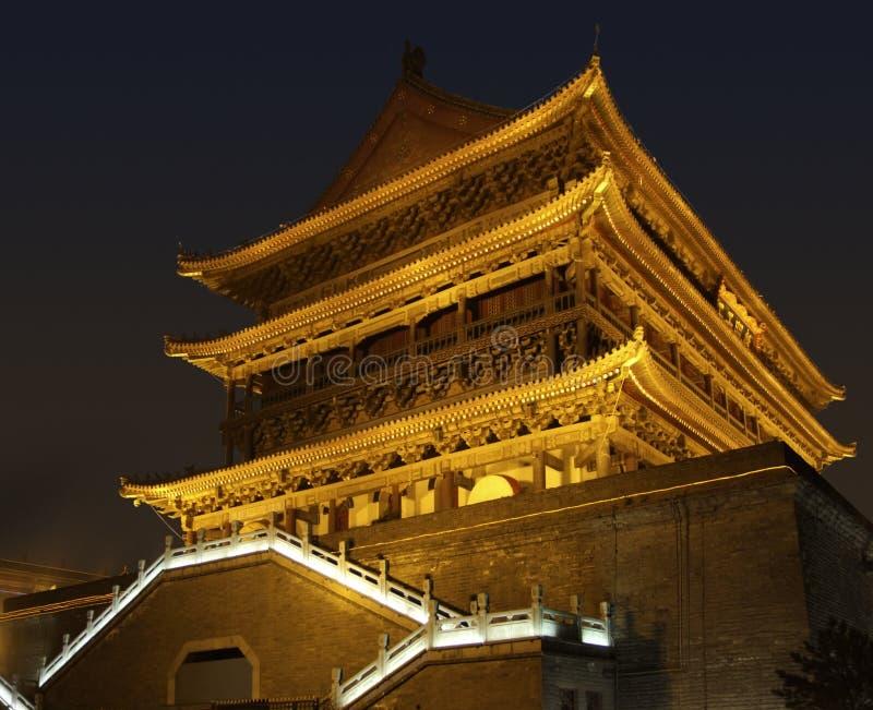 Tour lumineuse de tambour dans Xian photo libre de droits