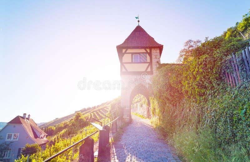 Tour médiévale dans Esslingen AM le Neckar, Allemagne image libre de droits
