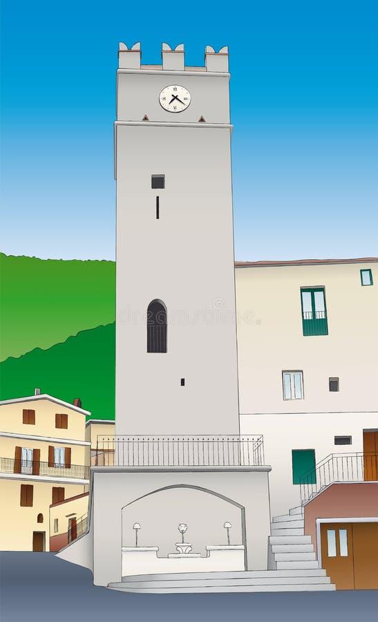 Tour médiévale, Vallepietra illustration libre de droits