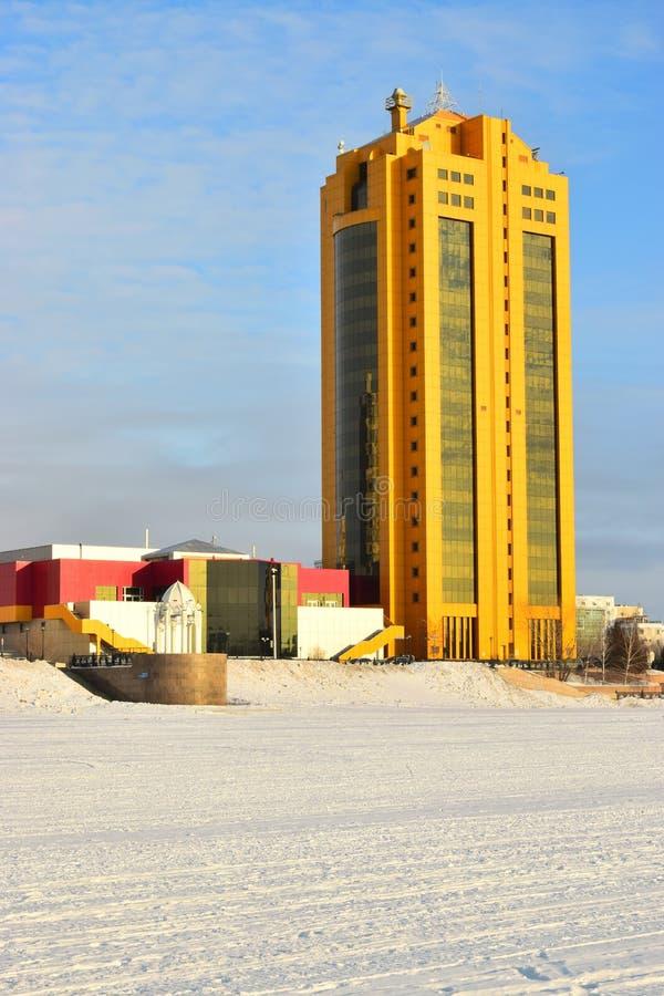 Tour moderne d'affaires à Astana/Kazakhstan image stock