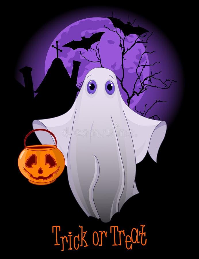 Tour ou traitement Ghost illustration de vecteur