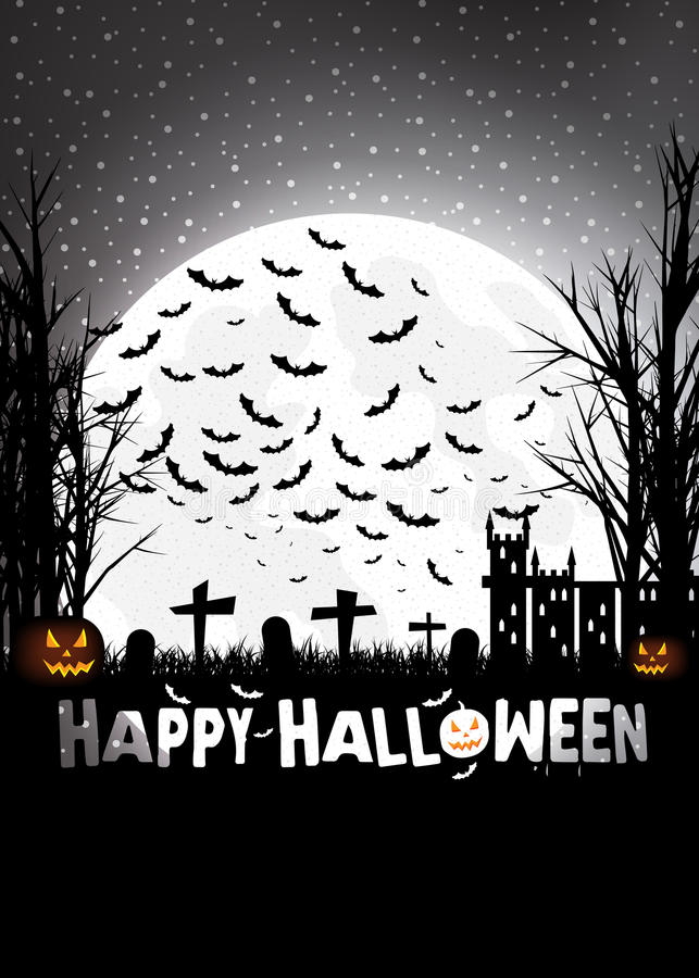 Tour ou traitement Halloween illustration stock