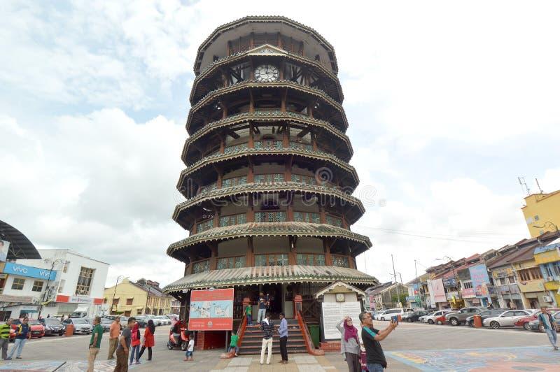 Tour penchée de Teluk Intan, Perak photo libre de droits