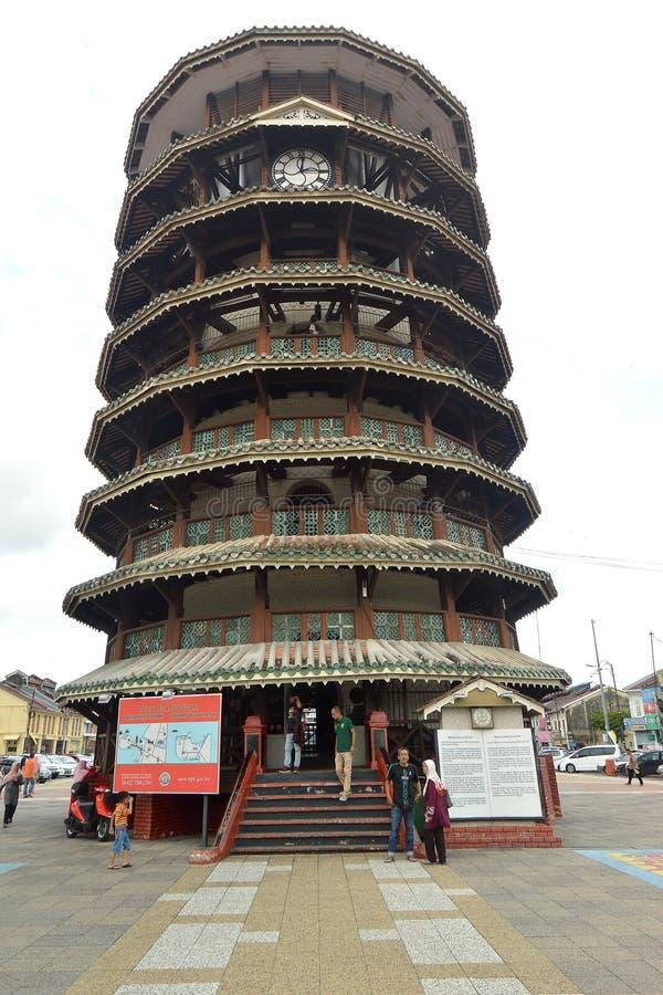 Tour penchée de Teluk Intan, Perak image libre de droits