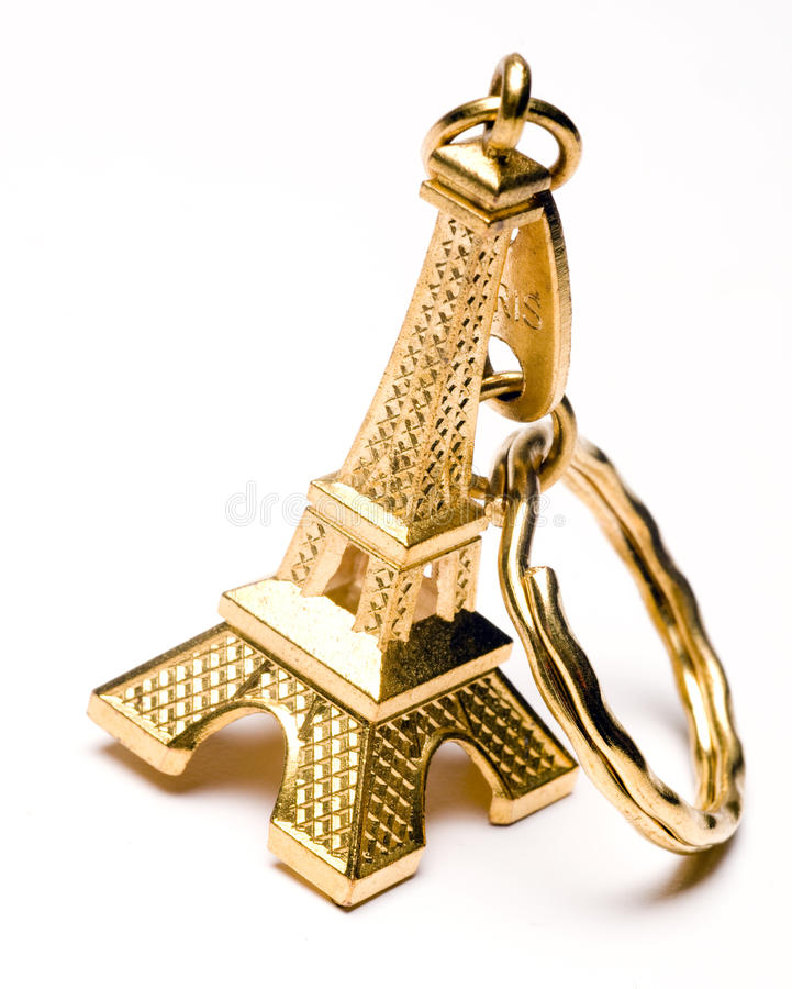 tour principale à chaînes de souvenir d'Eiffel photographie stock libre de droits