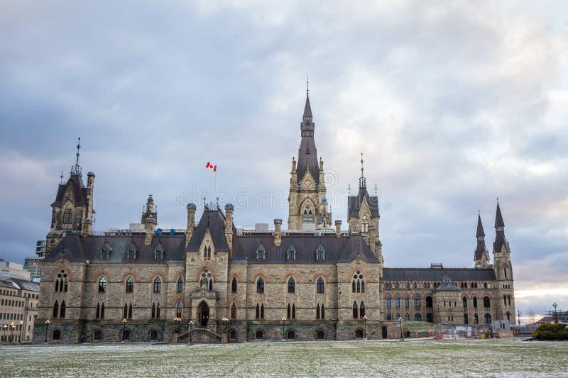 Tour principale du bloc occidental du Parlement du Canada, dans le complexe parlementaire canadien d'Ottawa, Ontario photo libre de droits