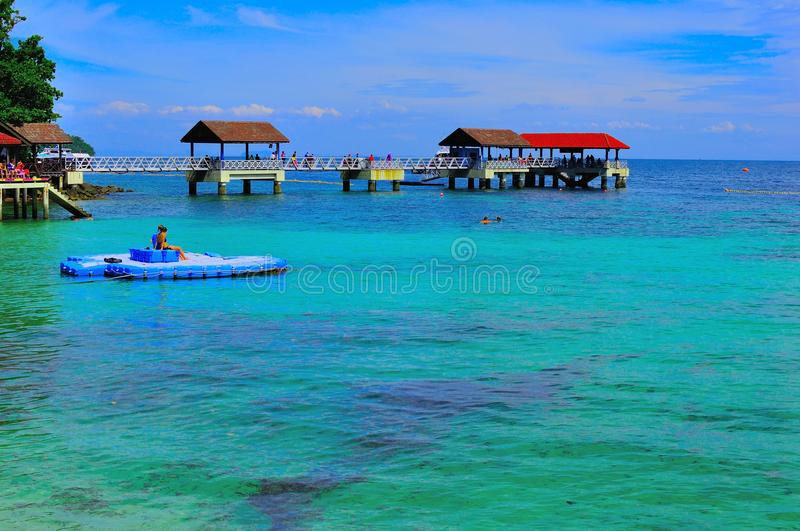 Tour to beautiful tropical island royalty free stock photography