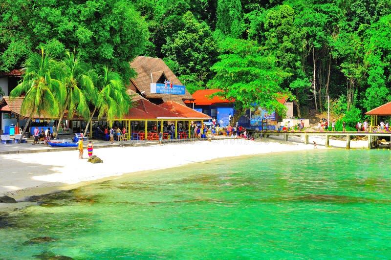 Tour to beautiful tropical island royalty free stock photo