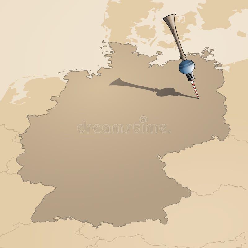 tour TV de carte de Berlin Allemagne illustration de vecteur