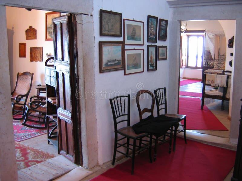 Tour vénitienne de musée à l'île de Naxos de ville de Chora Cyclades Grèce photographie stock