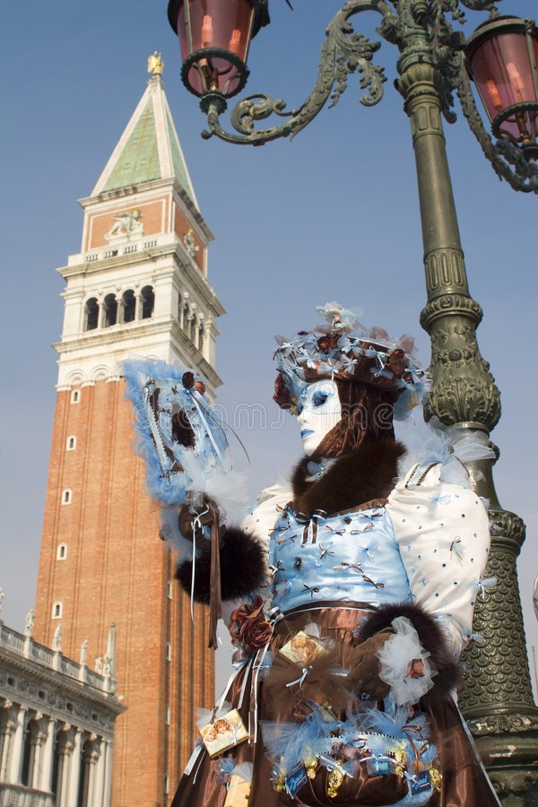 tour Venise de maks de carnaval de cloche photo stock