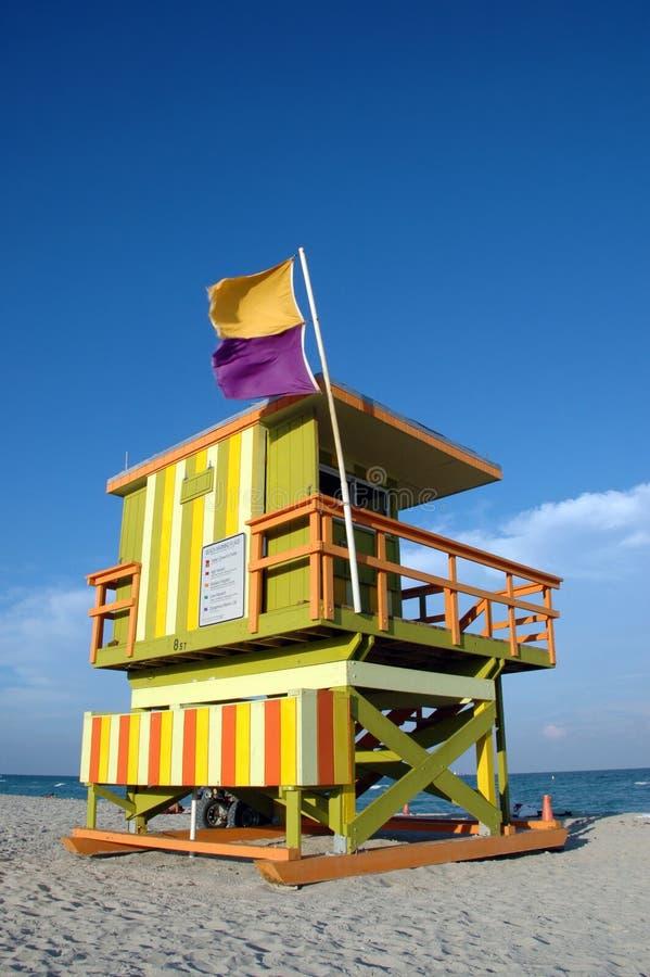Tour verte et orange de maître nageur d'art déco image libre de droits