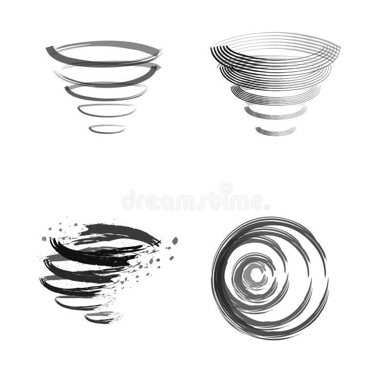Tourbillon de nettoyage de logo illustration de vecteur