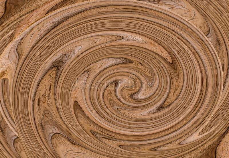 Tourbillonnement de fond couleur crème fondue par texture brune de tourbillon naturelle image stock