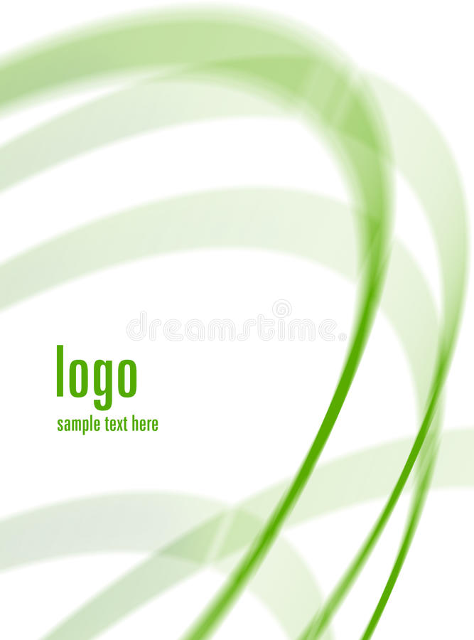 tourbillonnement de vert de fond illustration stock