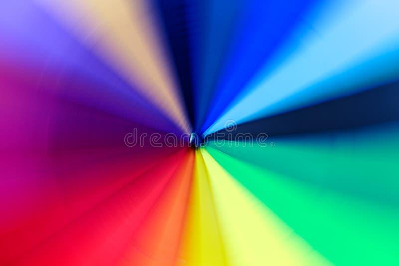 Tourbillonnement du parapluie coloré, fond abstrait de mouvement illustration stock