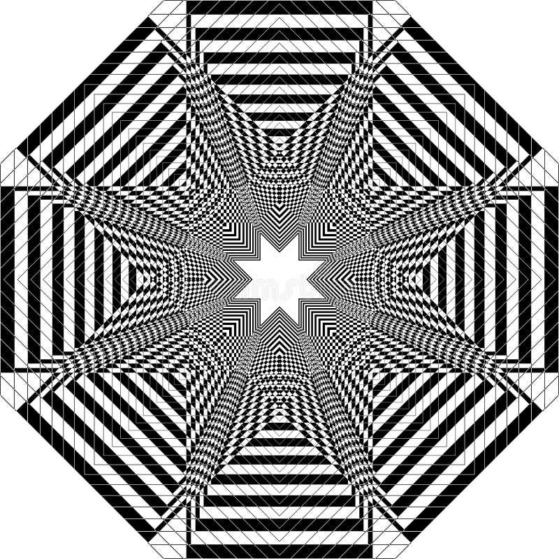 Tourbina estelar como estructura arabesca ilusión arabesca satelital estructura abstracta art deco ilustración libre illustration