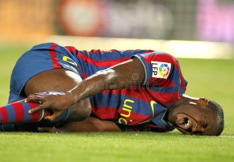 Toure Yaya verletzt lizenzfreies stockfoto