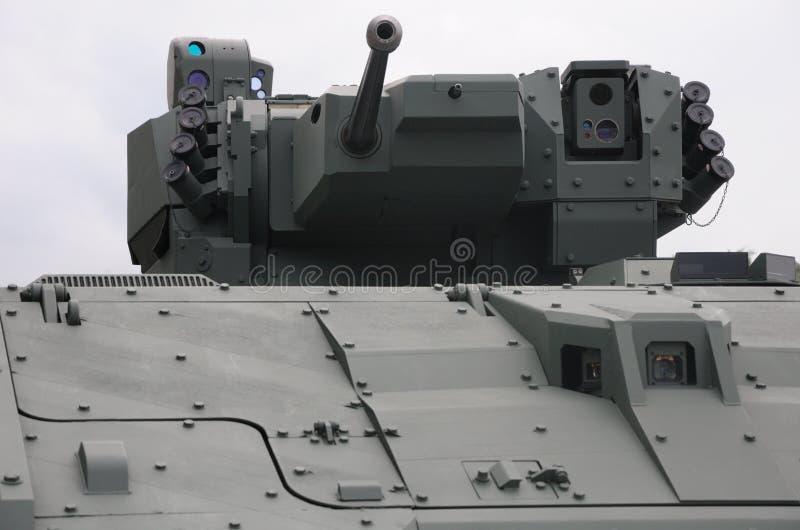 Tourelle d'un véhicule de char d'assaut photos stock