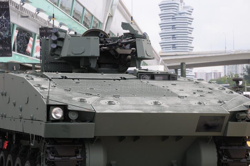 Tourelle de véhicule de combat d'infanterie avec des mitrailleuses images stock