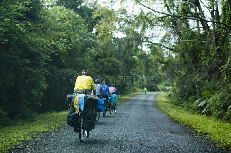 Touring bicycle royalty free stock photos