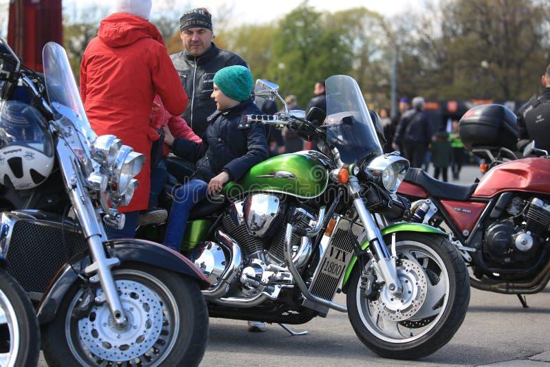 Touring motorcycle Honda VTX1800T. Palace Square stock photography