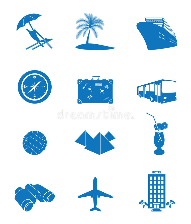 Download Tourism stock vector. Illustration of luggage, camp, binoculars - 22347702