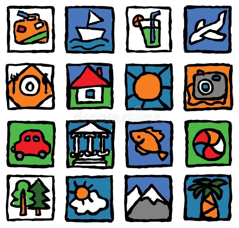 Tourism&travel stock illustratie