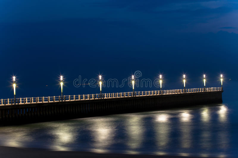 Beachfront Piers Ocean Royalty Free Stock Image