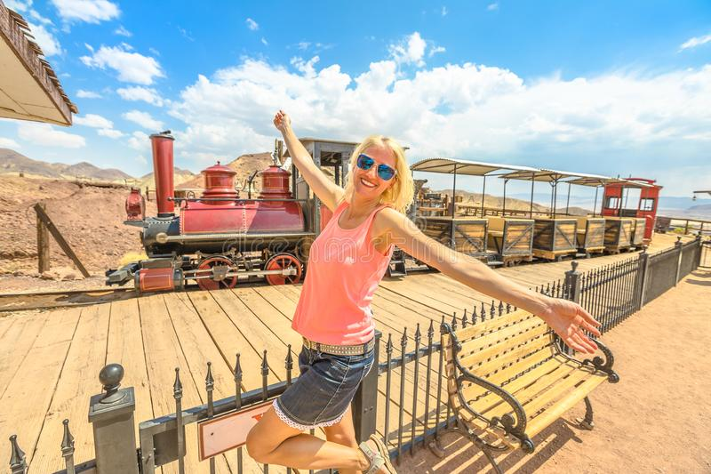 Tourism at Calico royalty free stock photography